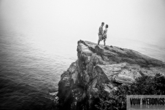 newport beach walk engagement session