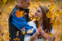 fall foliage engagement session