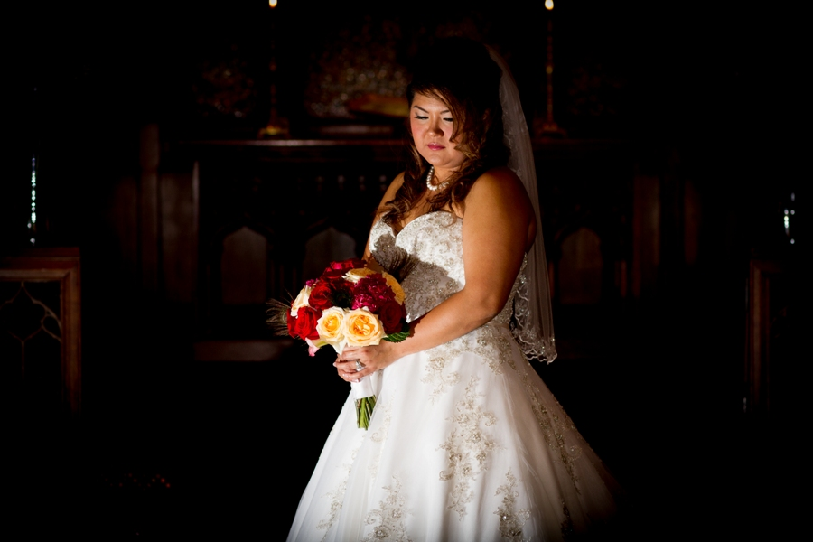 melissa and sung - bride church portrait