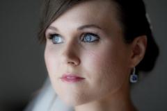 blue earring bride wedding