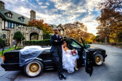 henderson house wedding with car