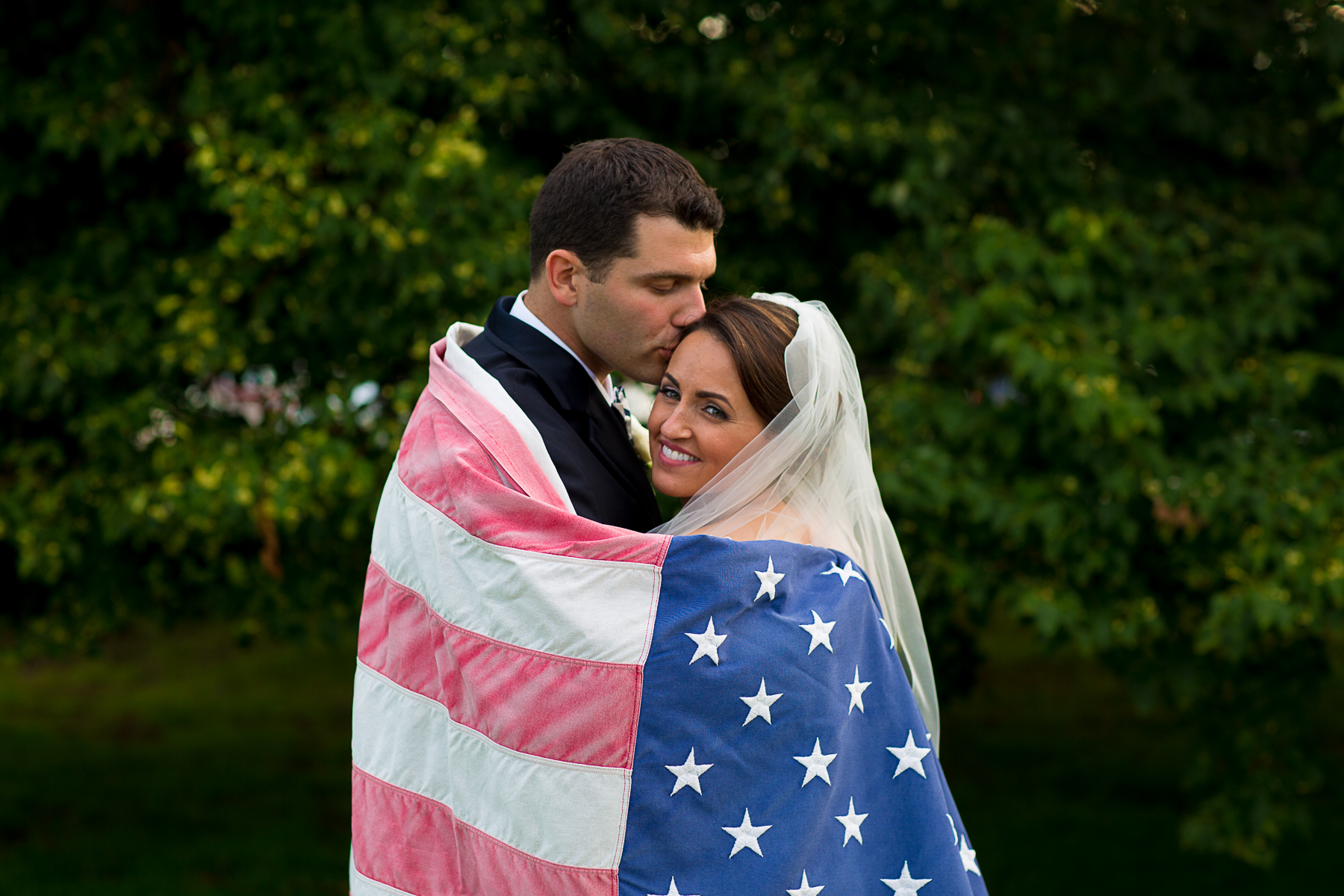 patriotic wedding photo Fourth of July