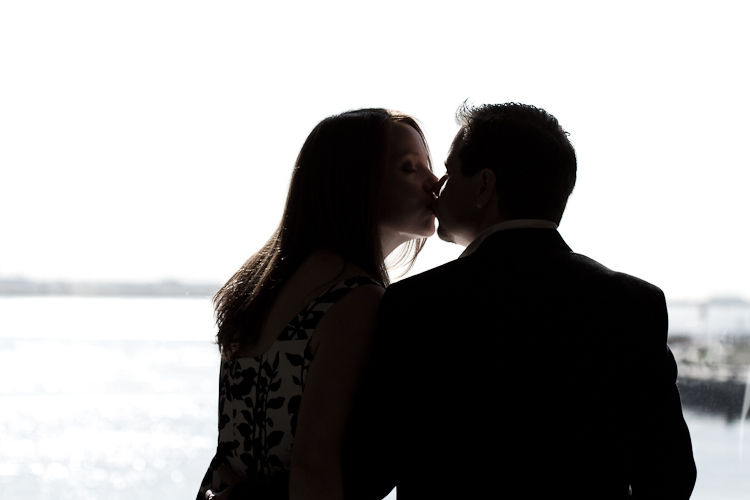 boston harbor engagement session