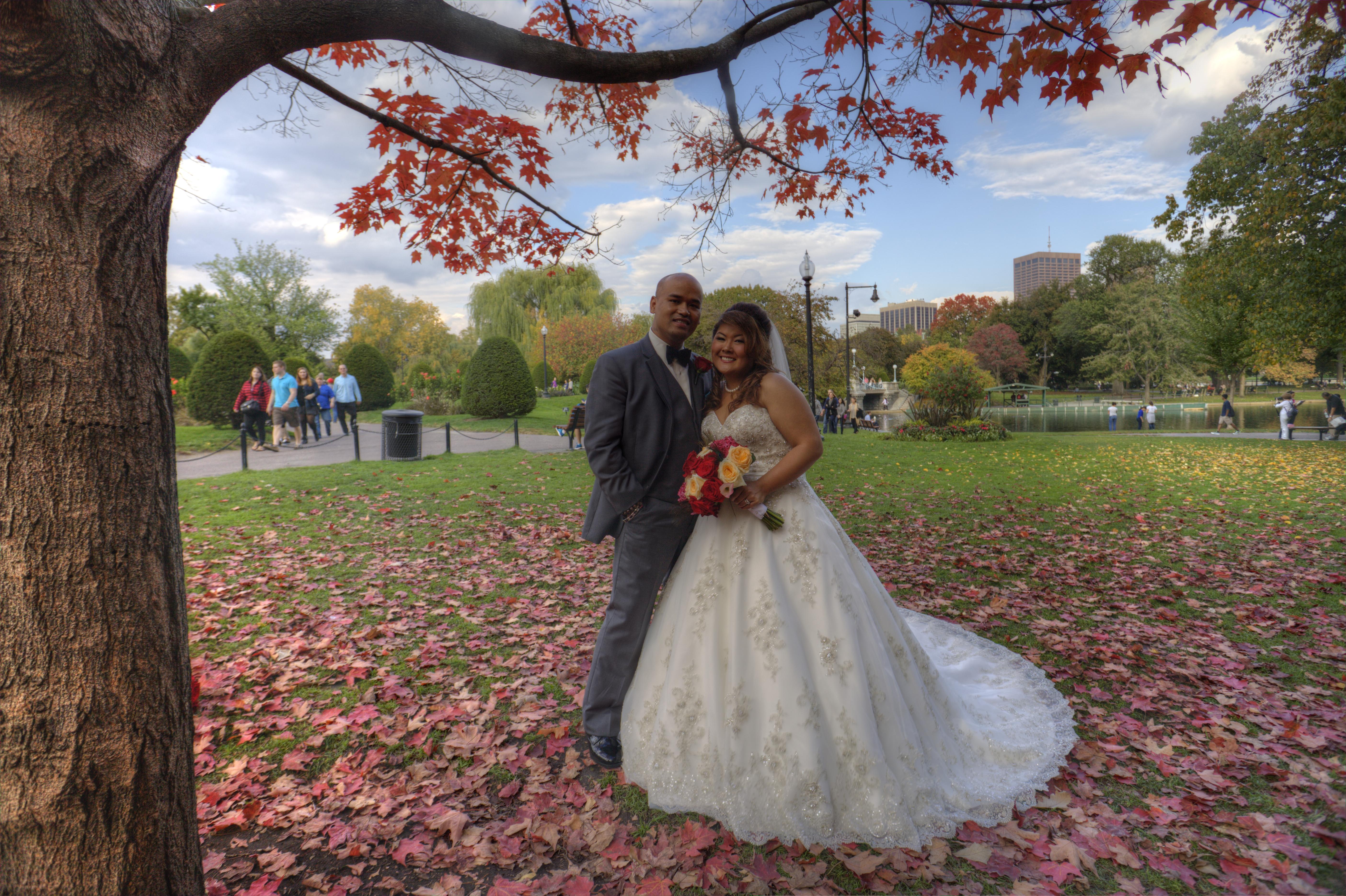 boston public garden wedding photo - Empire Garden