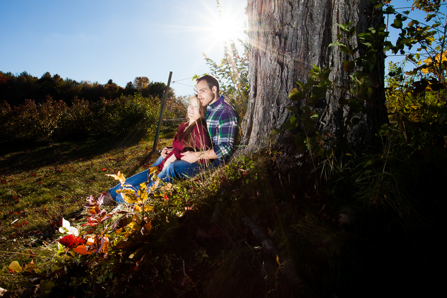 Monadnock Berries Farm Troy NH Engagement