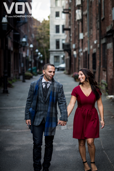 north end engagement photo