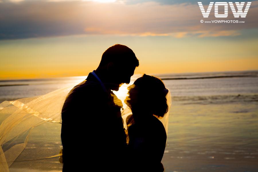 sunset wedding portrait cape cod