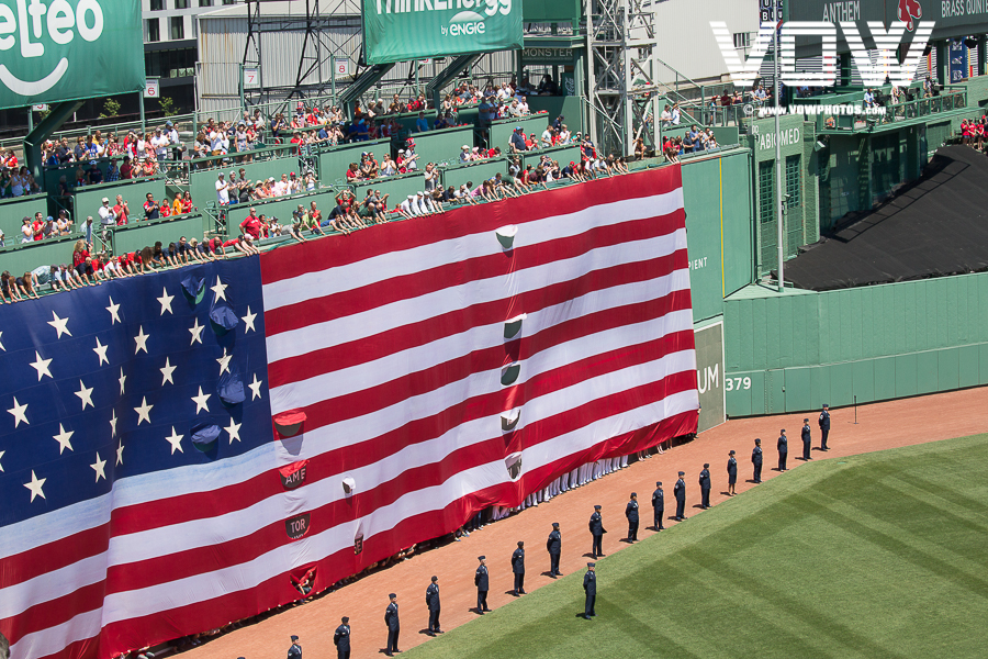 American Flag Fenway Park