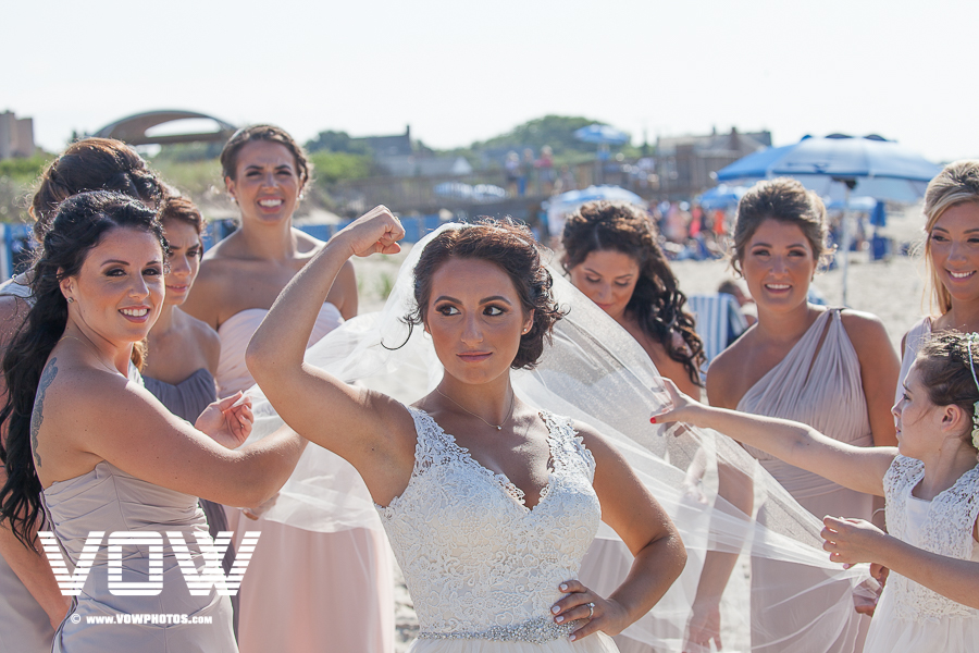 bridesmaids formal photos bay pines beach wedding cape cod