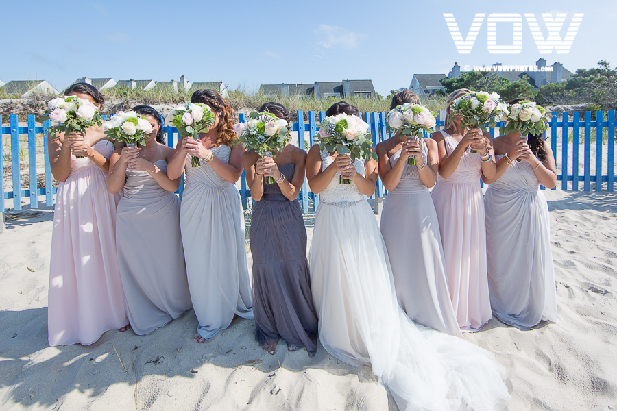 bridesmaids formal photos cape cod