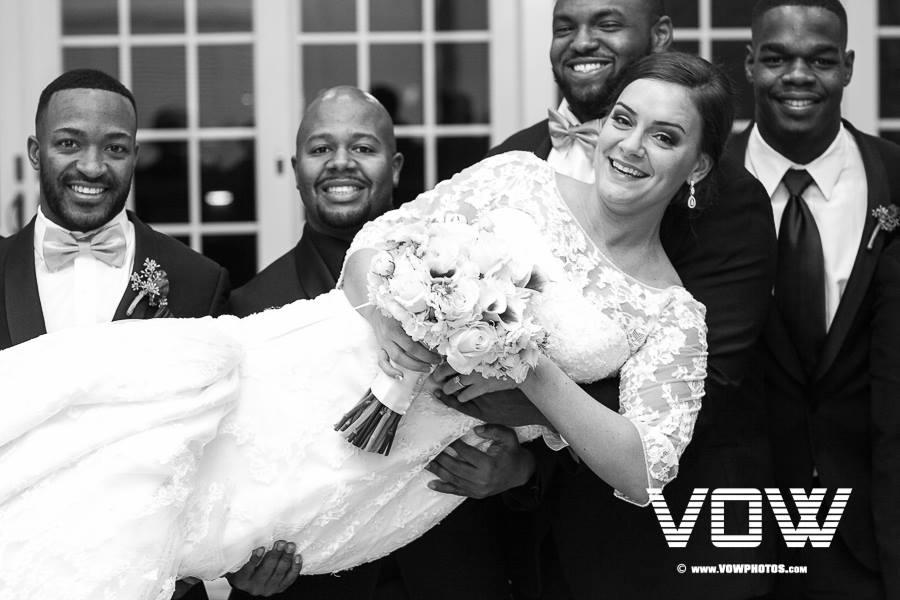 bride-and-groomsmen