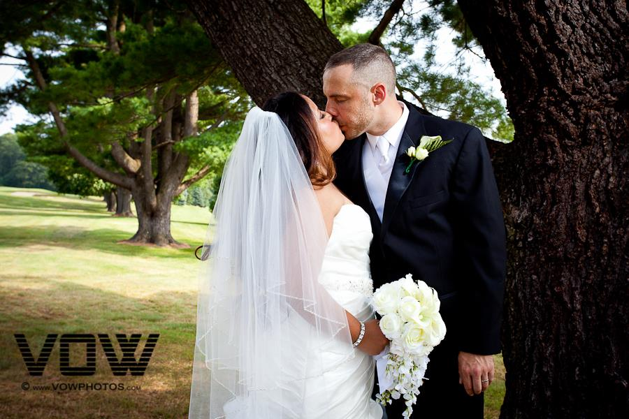 mt. pleasant golf club wedding photo